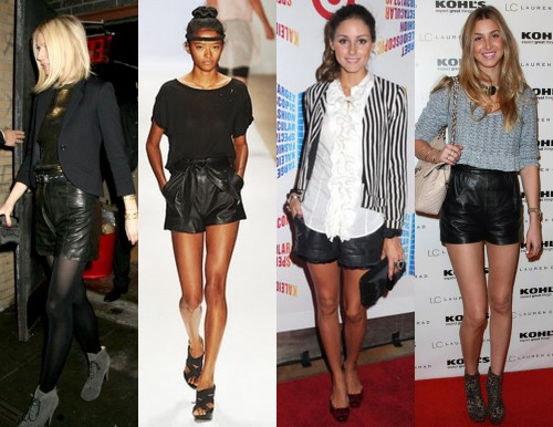 leather shorts celebs