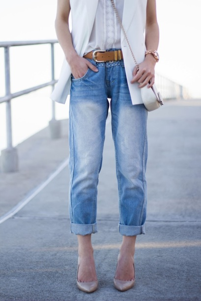 Lighter Wash Boyfriend Jeans